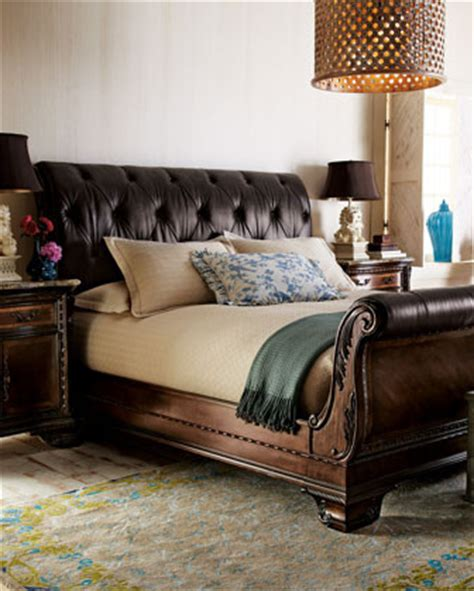 alexander bedroom furniture traditional sleigh beds  horchow