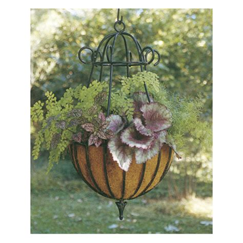 decorative hanging planters decorative 14 diameter peacock hanging planter liner set