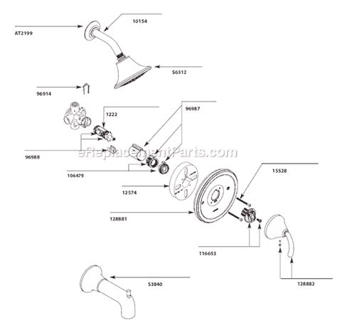 Moen Shower Replacement Parts by Moen Ts2143 Parts List And Diagram Ereplacementparts