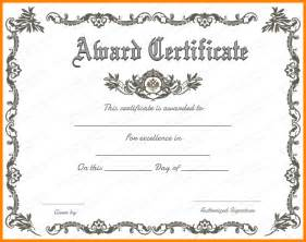 Formal Award Certificate Template by Doc 1040729 Blank Award Templates Formal Award