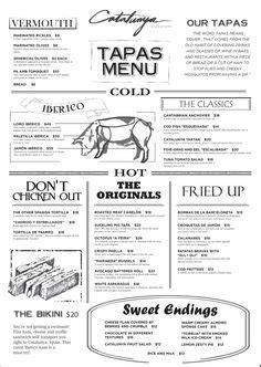 table san rafael coupons basque norte tapas menu menu design tapas