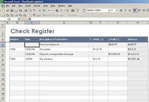 microsoft excel check register template checkbook ledger template excel