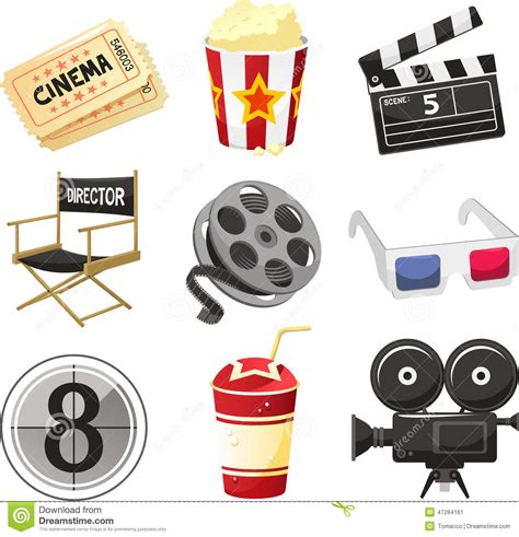Icon Cinema Gift Card - movie cinema icons stock illustration image 47284161