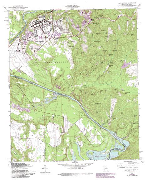 fort benning map fort benning topographic map ga al usgs topo 32084c8
