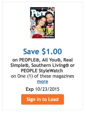 People Stylewatch Sweepstakes - grab some quot me time quot with your favorite magazine save at kroger