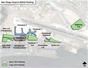 San Diego Airport Map by San Diego Airport Parking San Airport Long Term Parking
