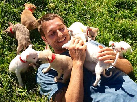 luck puppy 21 adorable dads with their pups happy s day