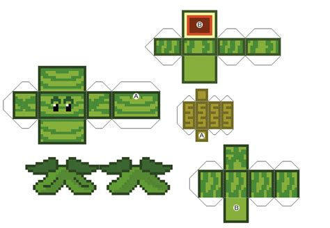 plants vs zombies paper crafts papercraft melon pult plants vs zombies made up