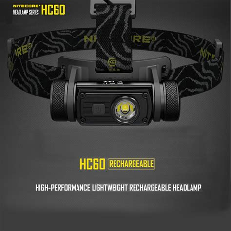 Nitecore Hc60 Headl Series Cree Xm L2 U2 1000 Lumens nitecore hc60 cree xm l2 u2 1000lm rechargeable led headlight flashlight alex nld
