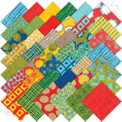 Quilting Fabric Charm Packs by Moda From Outside In Charm Pack Emerald City Fabrics