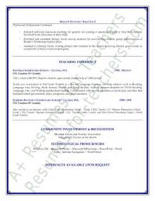 Esl Teacher Resume Sample Esl Teacher Resume Sample Page 2