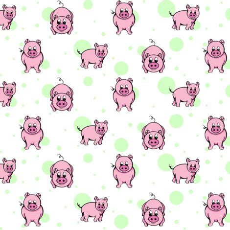 pigs and bubbles fabric smart_cats spoonflower