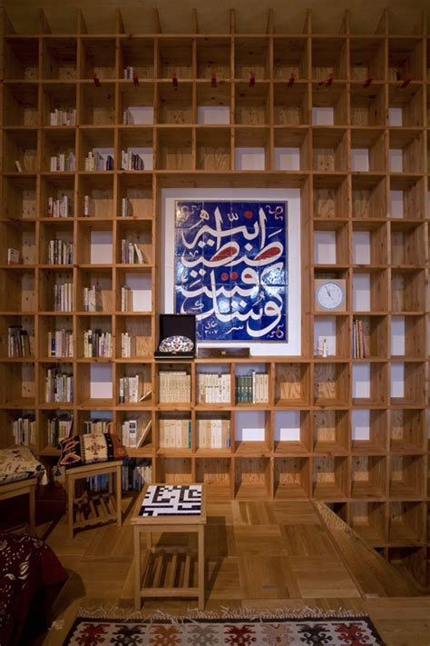 shelf pod the islamic library residence in japan