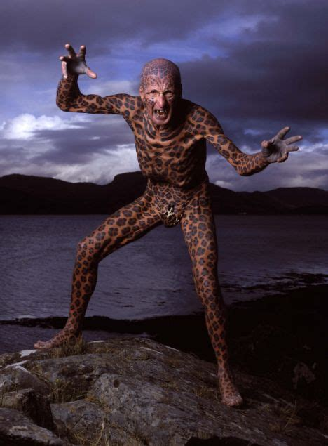 full body animal tattoo pictured the tattooed leopard man of skye trades his