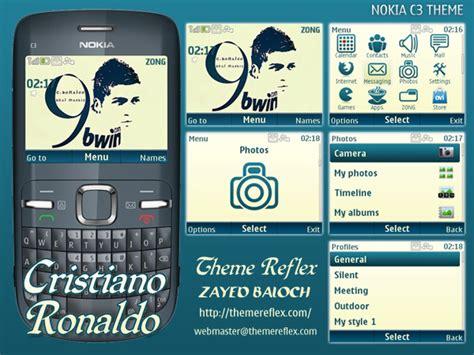 nokia c3 kpop themes cristiano ronaldo nokia c3 themes themereflex