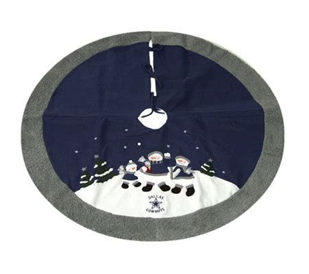 dallas cowboy christmas tree skirt nfl dallas cowboys snowman tree skirt qvc