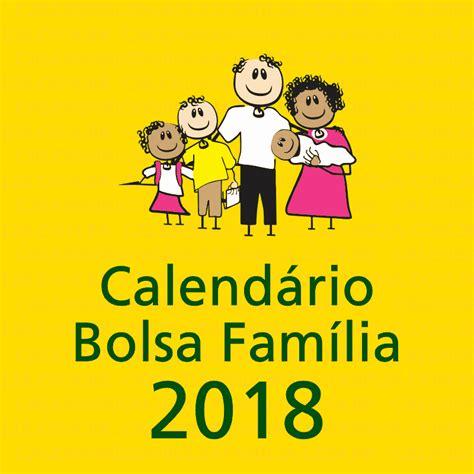 calend 193 bolsa fam 205 lia 2018 tabela e valor datas