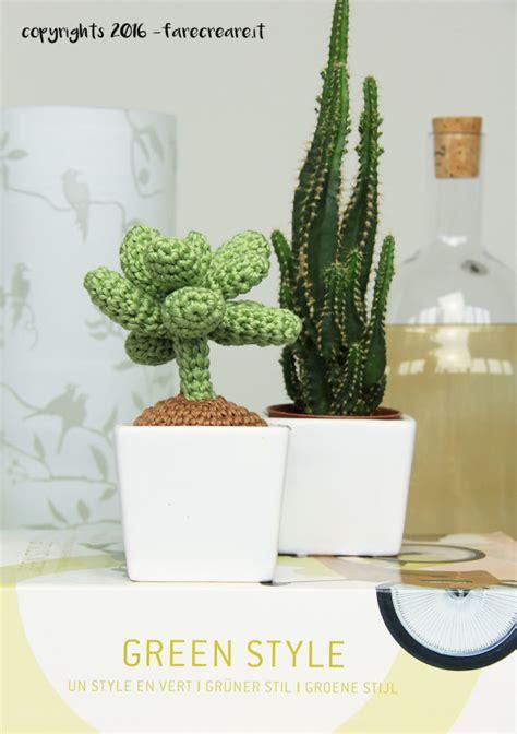 pianta grassa con fiori farecreare it creativo di amigurumi e tutorial diy