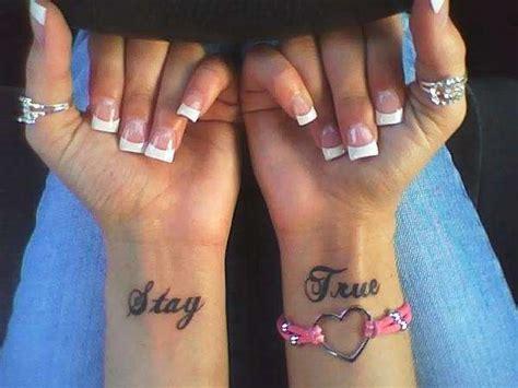 stay true wrist tattoo stay true