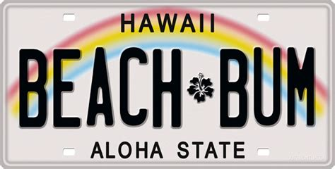 Vanity Plates Hawaii by Hawaii License Plate License Tag Novelty License Plate