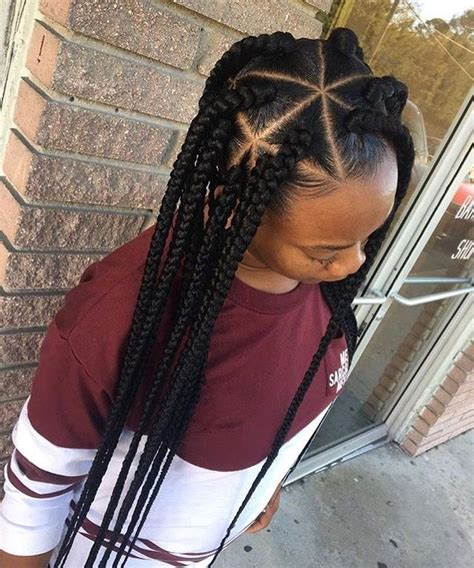 triangle parts natural hair 17 best ideas about kids box braids on pinterest kids