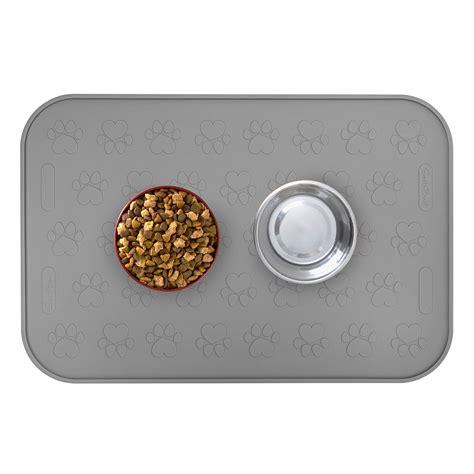 food mat large waterproof pet food mat 24 quot x 16 quot for or cat food bowls