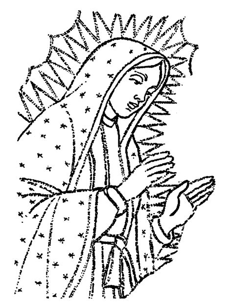 imagenes para dibujar virgen de guadalupe dibujos de la virgen de guadalupe para colorear imagui