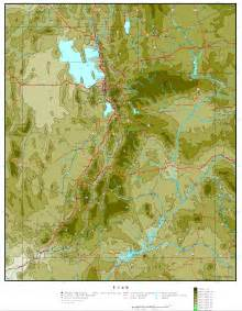 A Map Of Utah by Utah Elevation Map