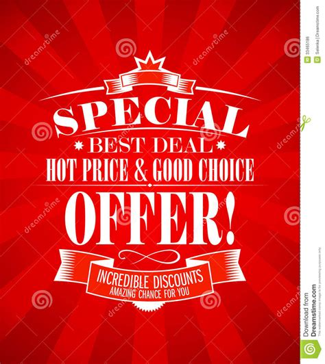 best deal offers best deal design template royalty free stock image