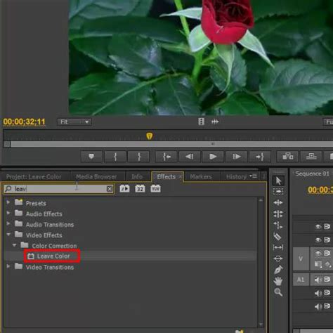 adobe premiere cs6 how to use how to use the leave color effect in adobe premiere pro