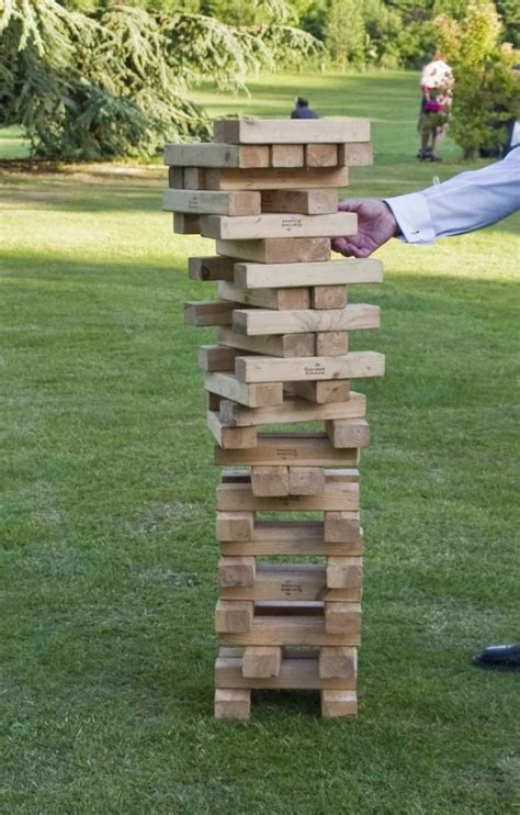 how to make backyard jenga outdoor giant jenga outdoor games pinterest giant