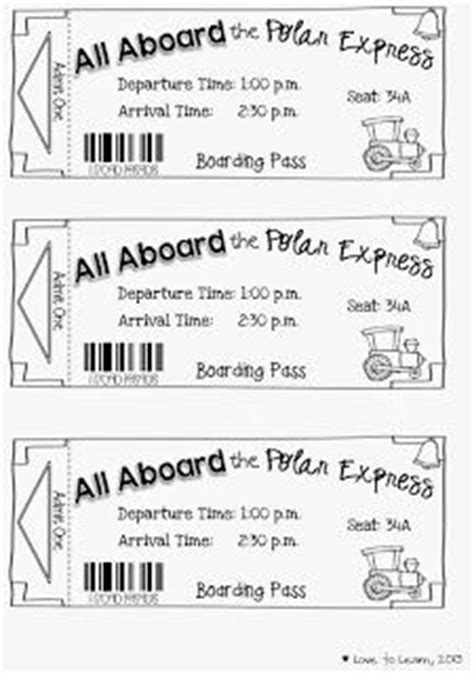 printable minivan express tickets polar express on pinterest the polar express polar
