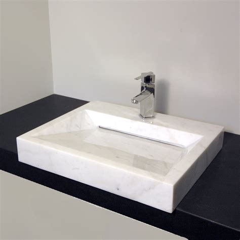 designer bathroom sink cantrio koncepts rs 107 stone series bianco carrera vessel