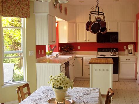 red kitchen with white cabinets 12 cozy cottage kitchens kitchen ideas design with