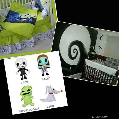 66 Best Images About A Nightmare Before Christmas Nursery Nightmare Before Baby Crib Bedding