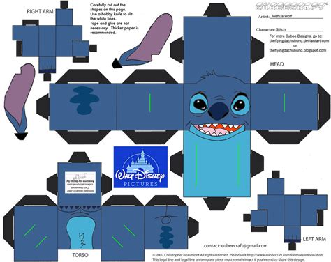 Stitch Papercraft - dis8 stitch cubee by theflyingdachshund on deviantart
