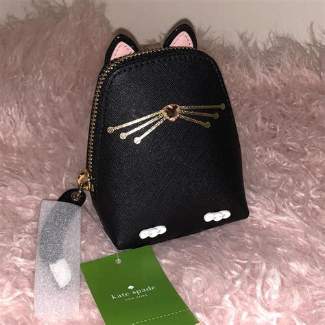 Kate Spade Mini Jazz Cat kate spade black jazz things up cat coin purse wallet tradesy