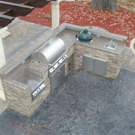 l shaped outdoor kitchen plans new interior exterior