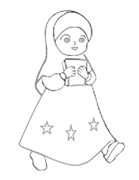 mewarnai gambar anak perempuan mewarnai gambar mewarnai gambar kartun anak perempuan muslimah azhan co