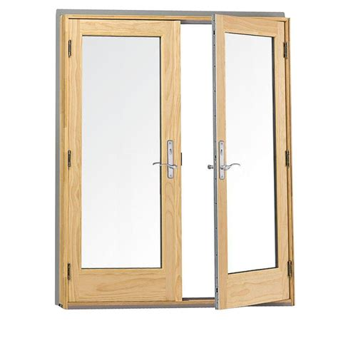 Andersen Hinged Patio Doors by Andersen 72 In X 80 In 400 Series Frenchwood White