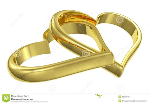 golden couple have big hearts couple of chained golden hearts diagonal view royalty free