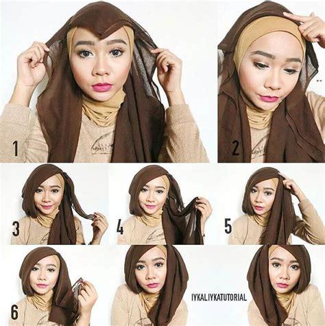 tutorial hijab paris segi empat untuk acara wisuda hijab paris tutorial hijab paris untuk wisuda yang buat