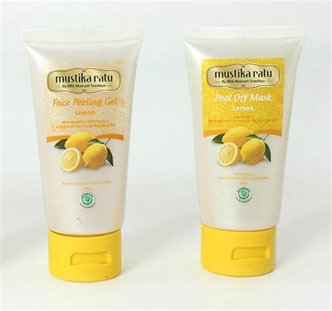 Harga Mustika Ratu Peeling Gel Lemon 5 bahan kandungan alami berikut uh mencerahkan wajah