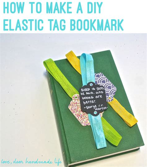 How To Make A Giveaway - how to make an elastic bookmark fiskars tag maker giveaway dear handmade life