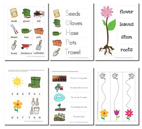 printable garden images educational freebie preschool garden themed printable