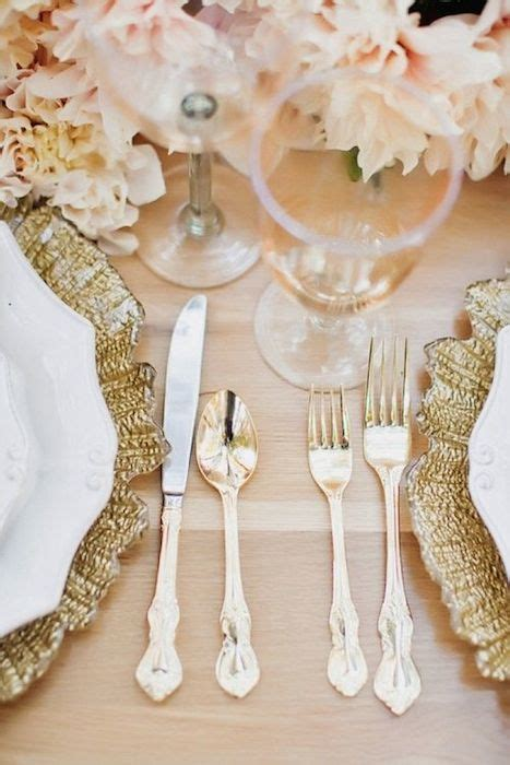 Blush And Gold Wedding Decor by 10 Ideas For Charger Plates Intimate Weddings Small