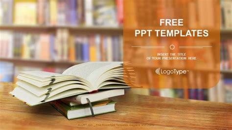 Opened Book Powerpoint Templates Powerpoint Template Book Theme