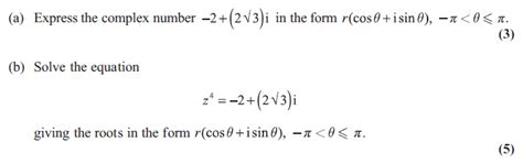 tutorial questions on complex numbers exam questions nth roots of a complex number examsolutions