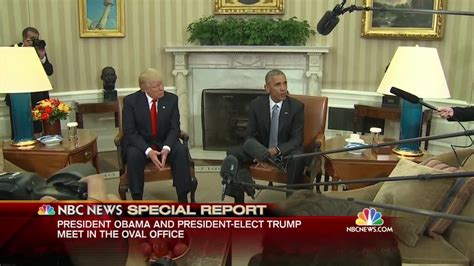 obama s oval office vs trumps president obama meets with president elect donald trump at