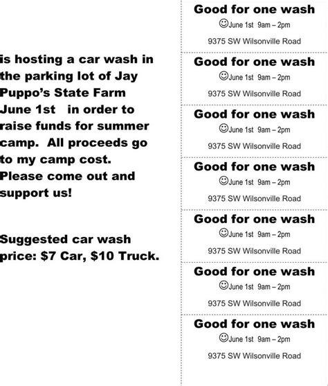 printable car wash tickets ticket templates download free premium templates